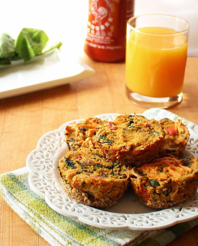 Vegan Spinach and Mushroom Mini Quiches, I Love Vegan