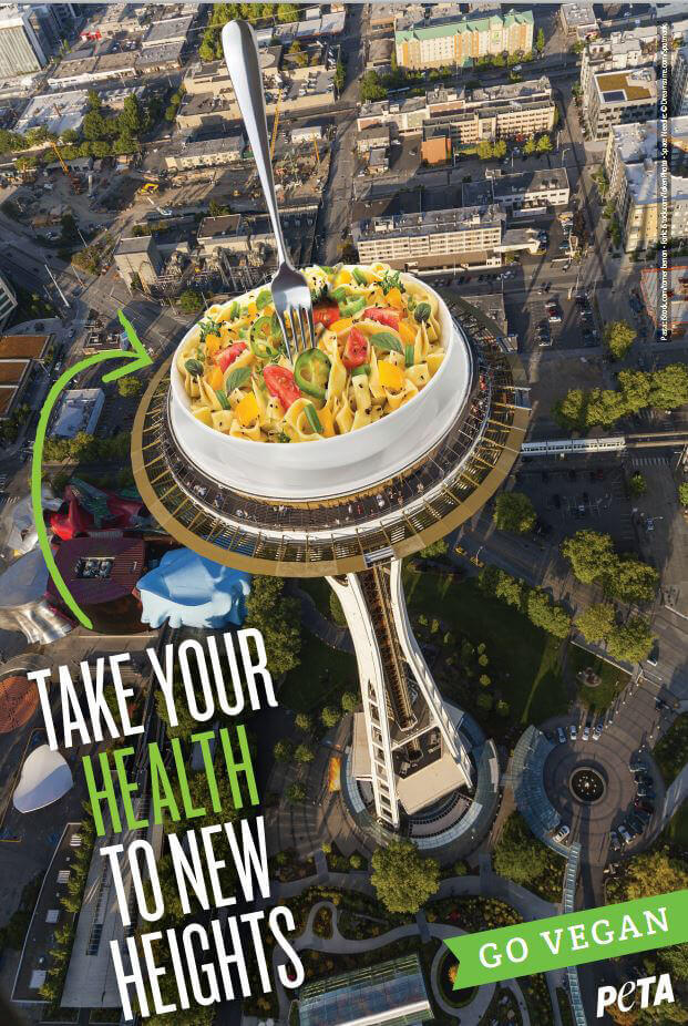PETA Proposes Ad on Seattle's Space Needle