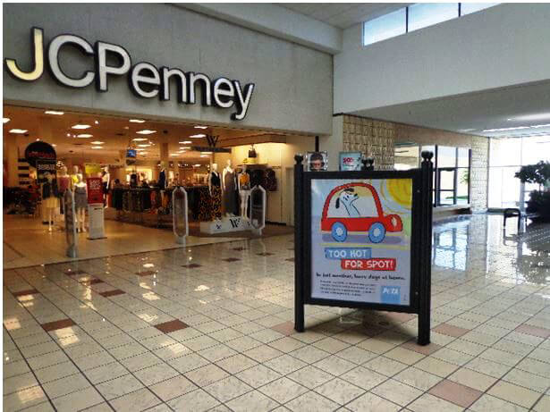 Too Hot For Spot Ad Outside JCPenney's