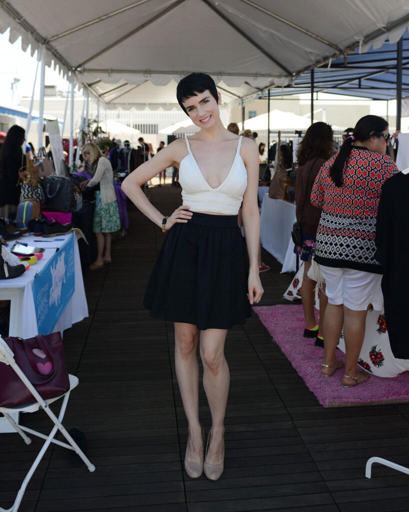 Victoria Summers at PETA Vegan Fashion pop-Up
