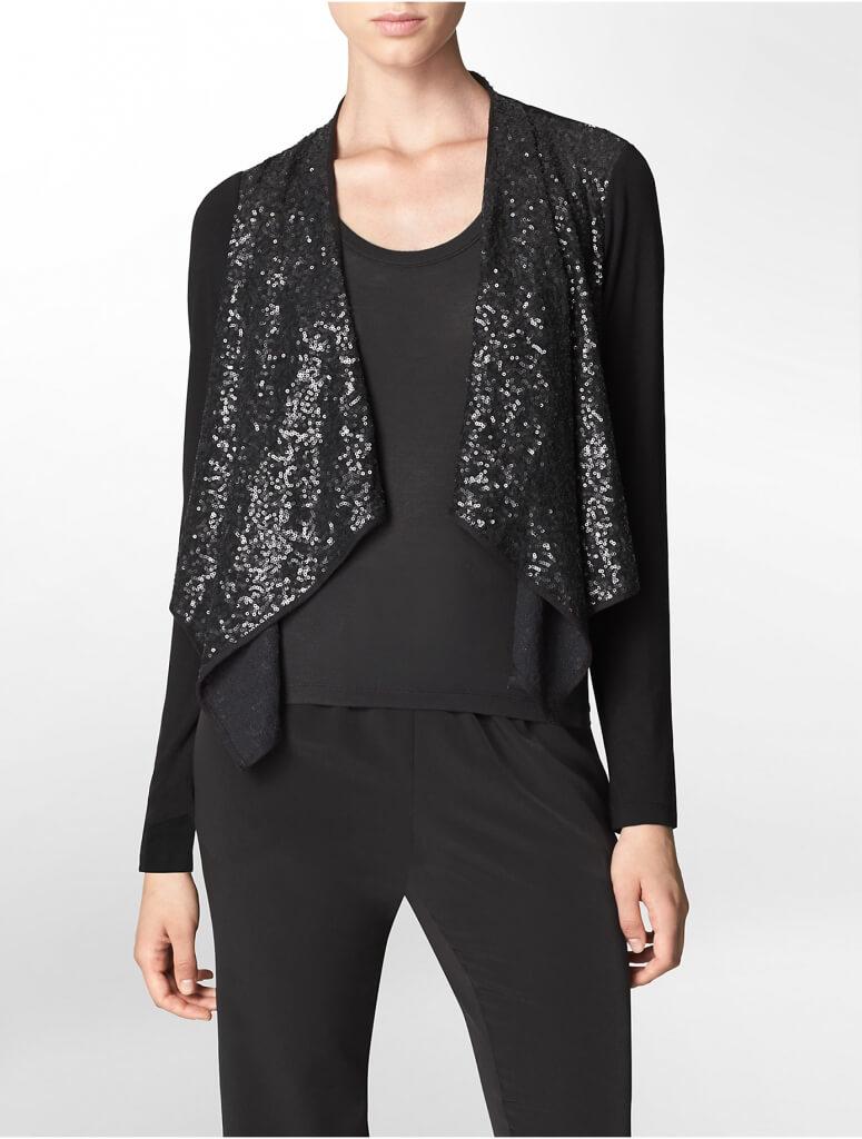 Calvin Klein Black Sequin Sweater