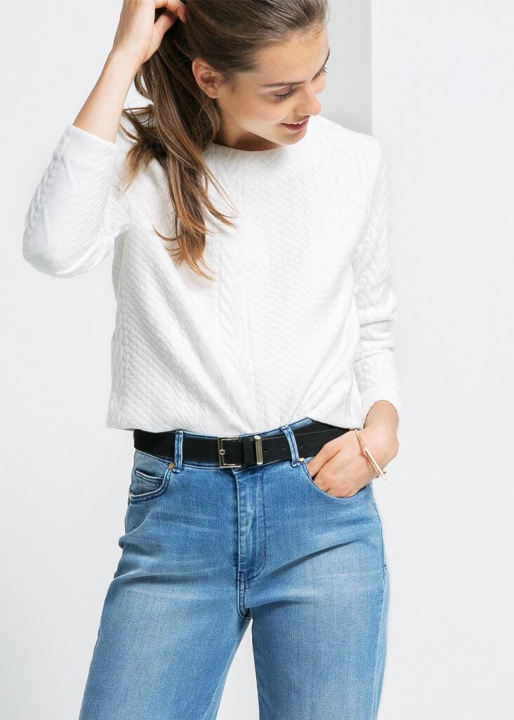 Mango White Sweater