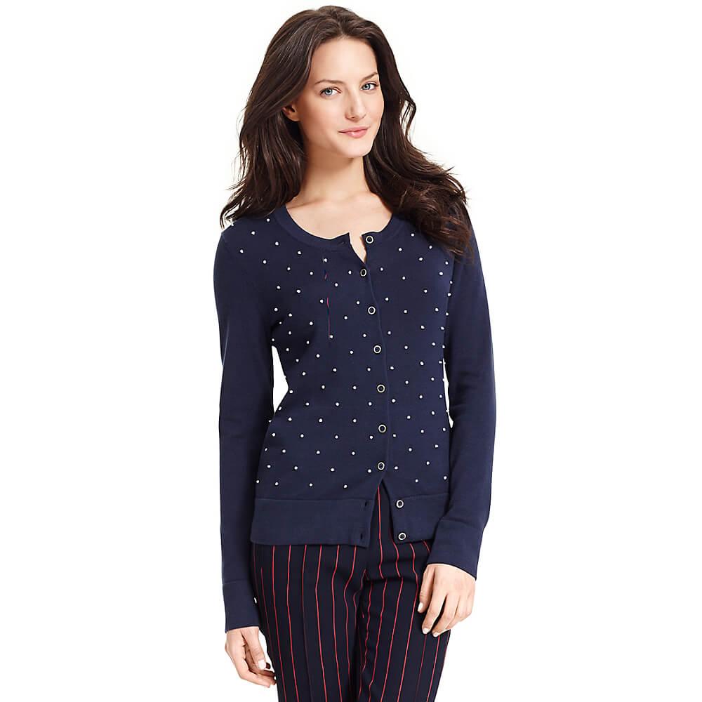 Tommy Hilfiger Blue Cardigan Sweater