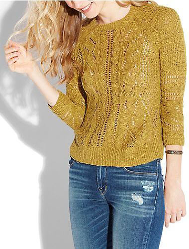 Lucky Brand Gold Knit Sweater