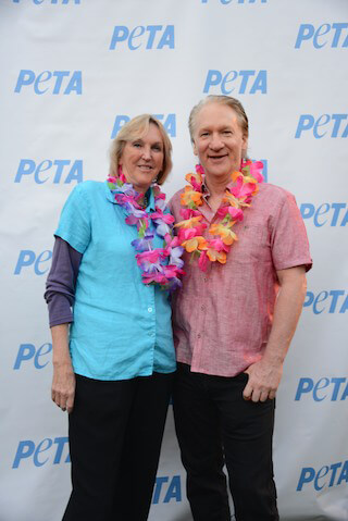 Ingrid Newkirk with Bill Maher