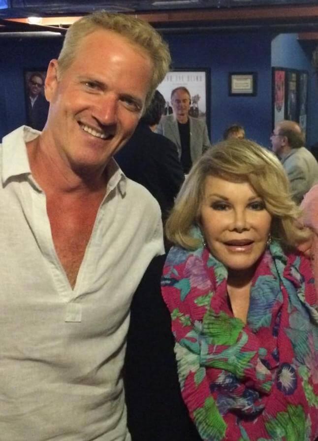Joan Rivers with PETA's Dan Matthews