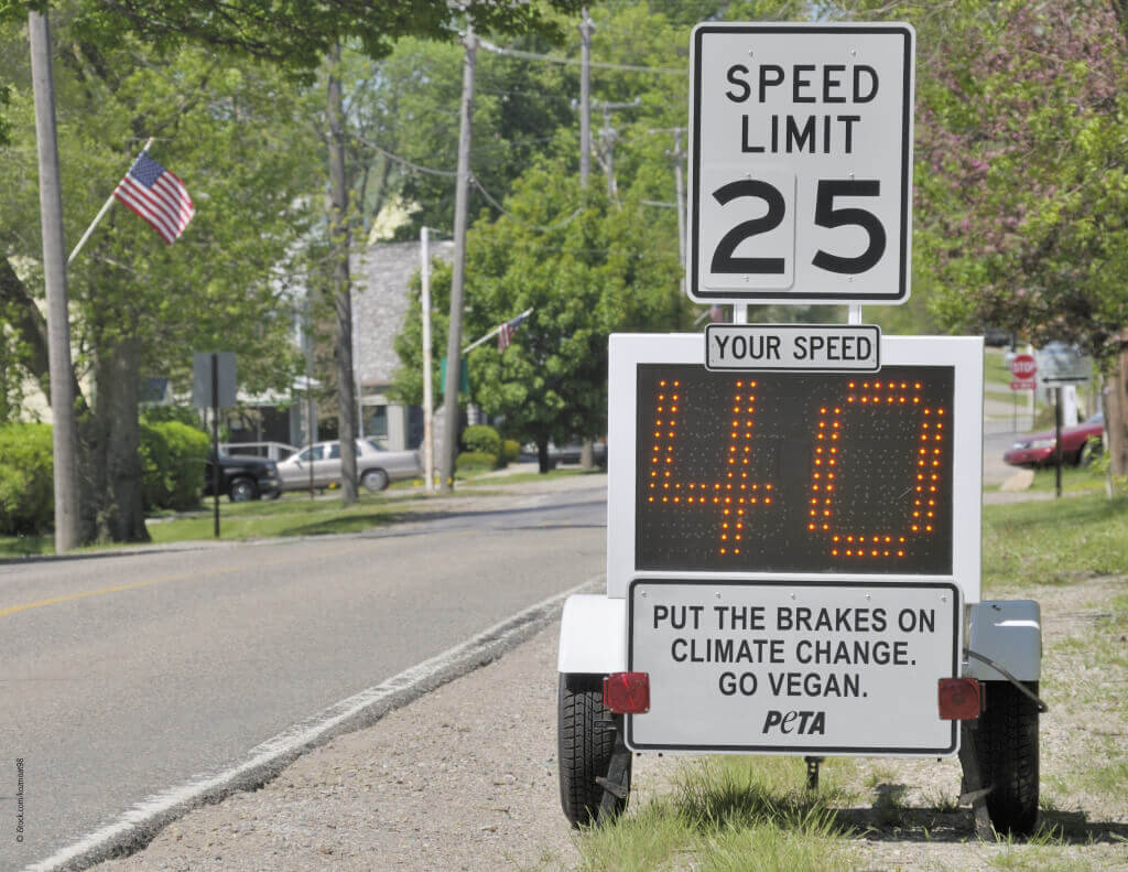 Put The Brakes on Climate Change Road Sign