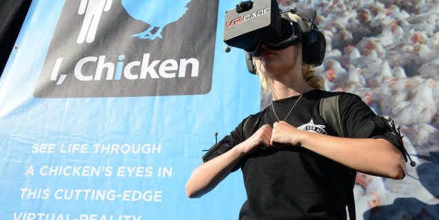 PETA's Innovative Virtual Reality Experience Turns You Into a Chicken
