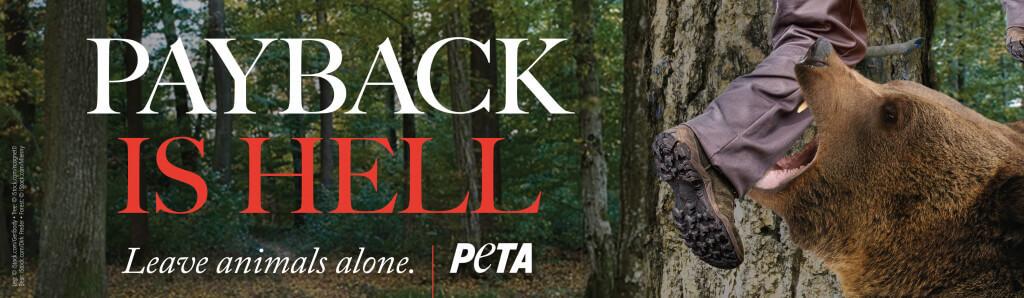 PETA's Payback Is Hell Billboard