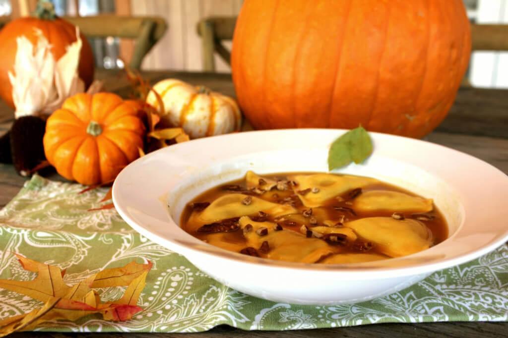 'Cheesy' Pumpkin Ravioli