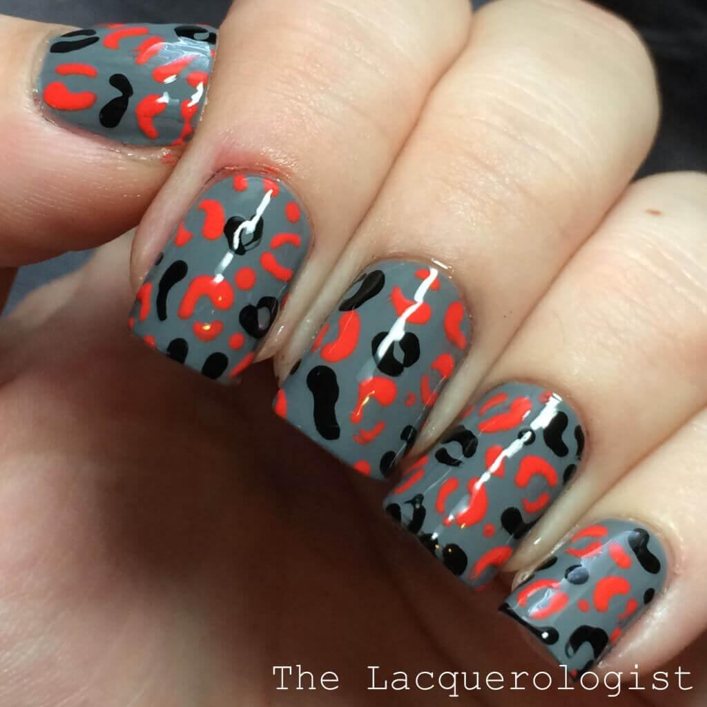 Leopard Print Halloween Nails