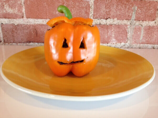 Halloween Stuffed Bell Pepper