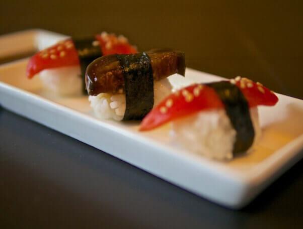 Tomato and Eggplant Sushi
