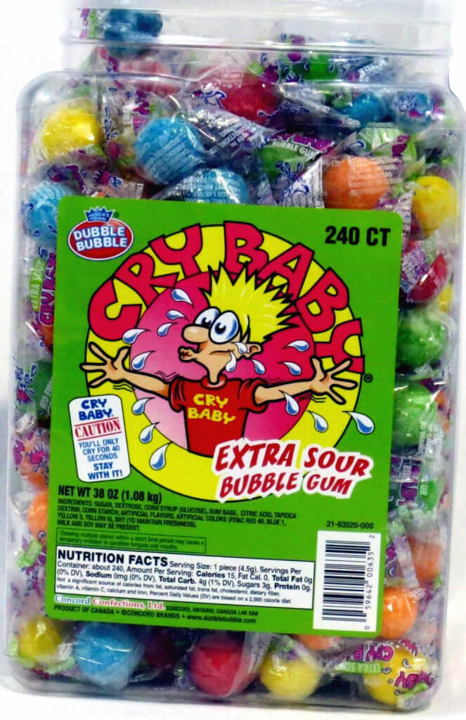 Vegan Halloween Candy cry baby