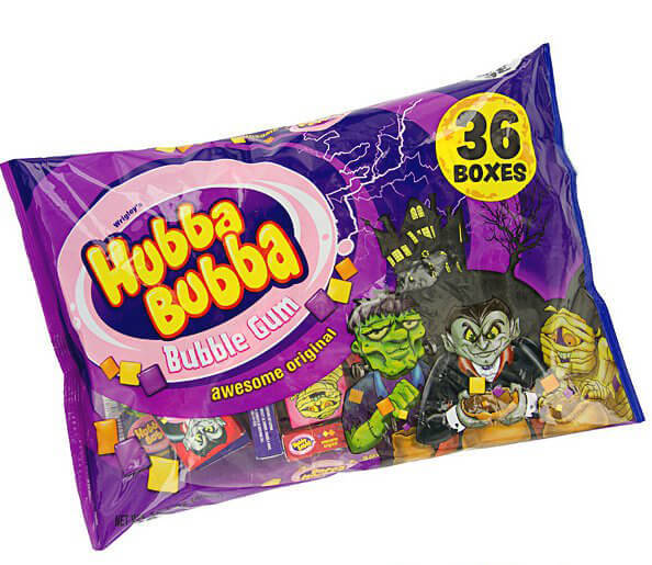 Vegan Halloween Candy hubba bubba