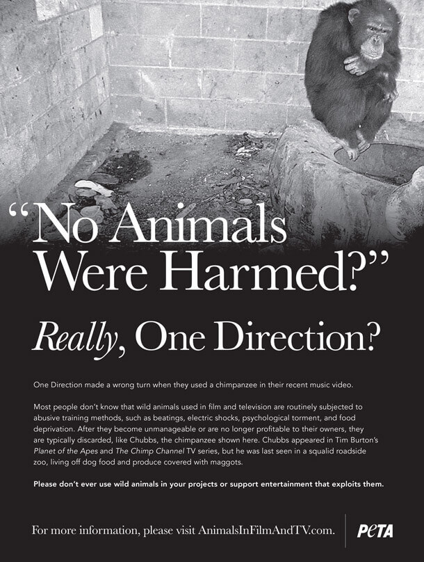PETA's One Direction Ad