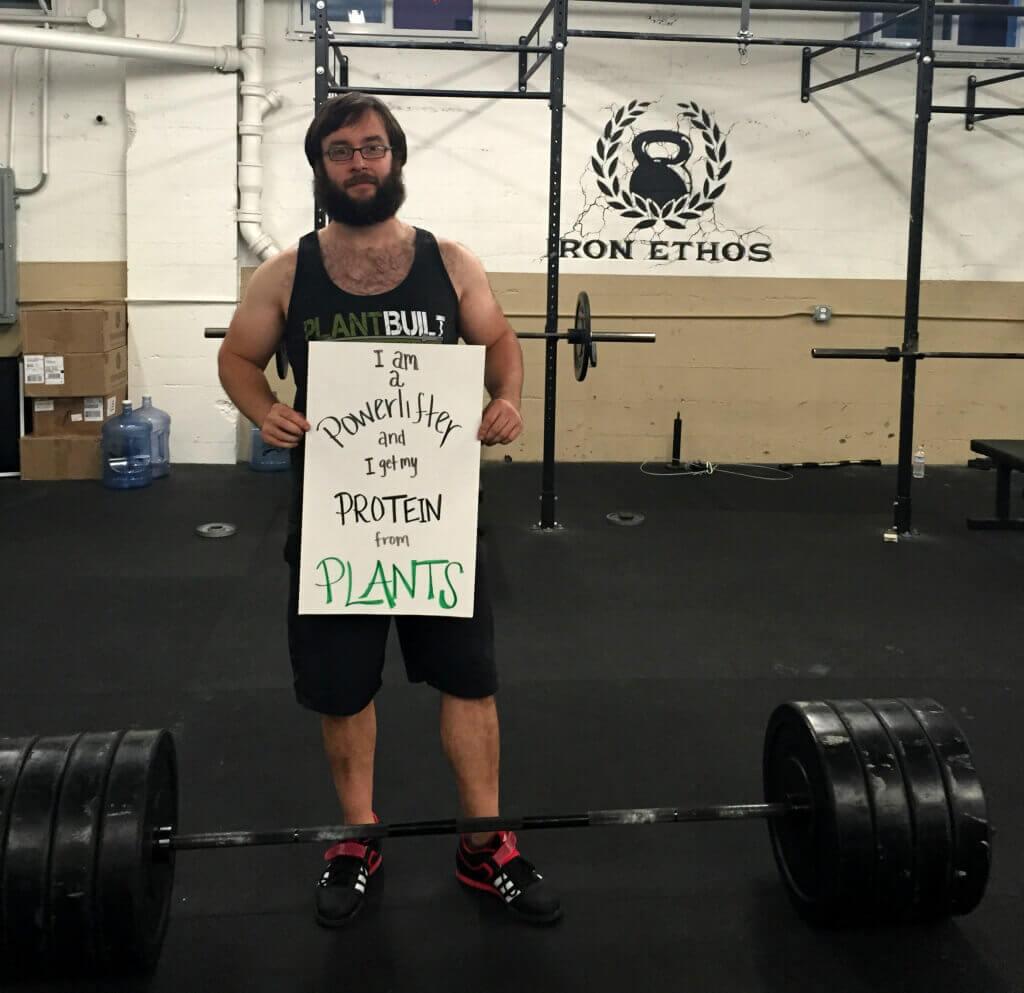 power lifter Vegan Animal Rights Myth