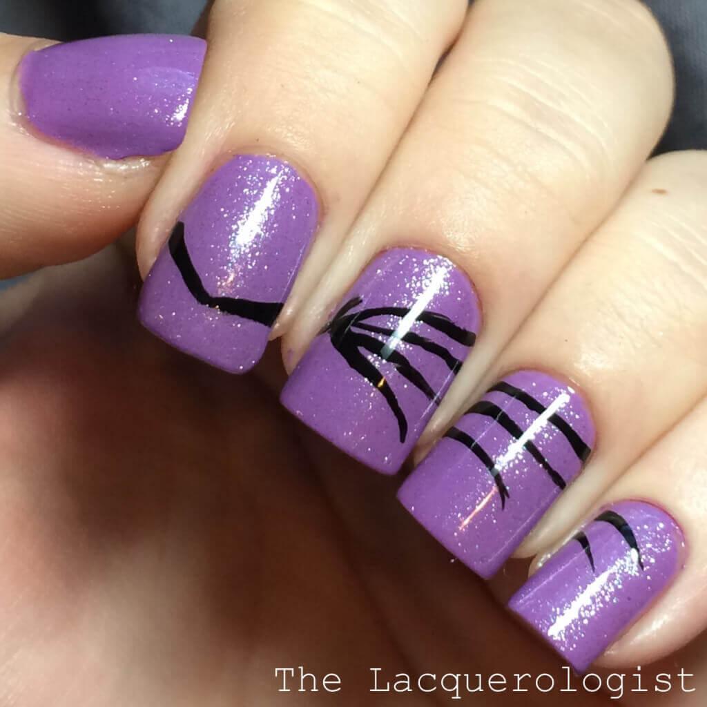 Halloween Bat Nails