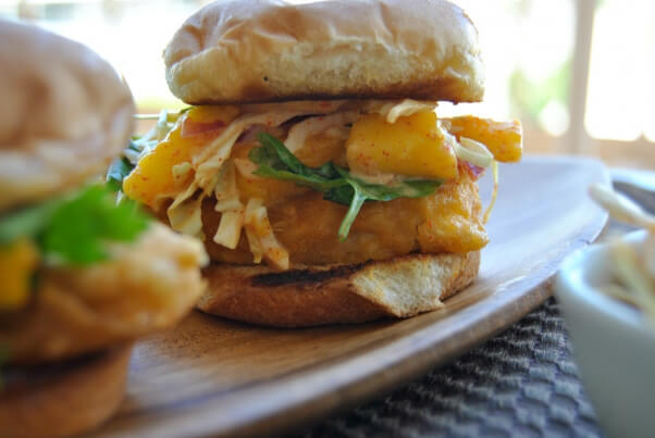 'Fish' Sliders With Spicy Mango Slaw