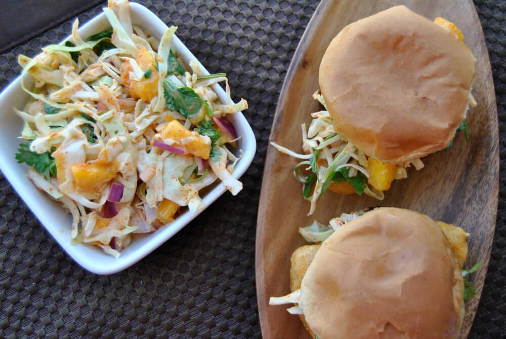 'Fish' Sliders With Spicy Mango Slaw