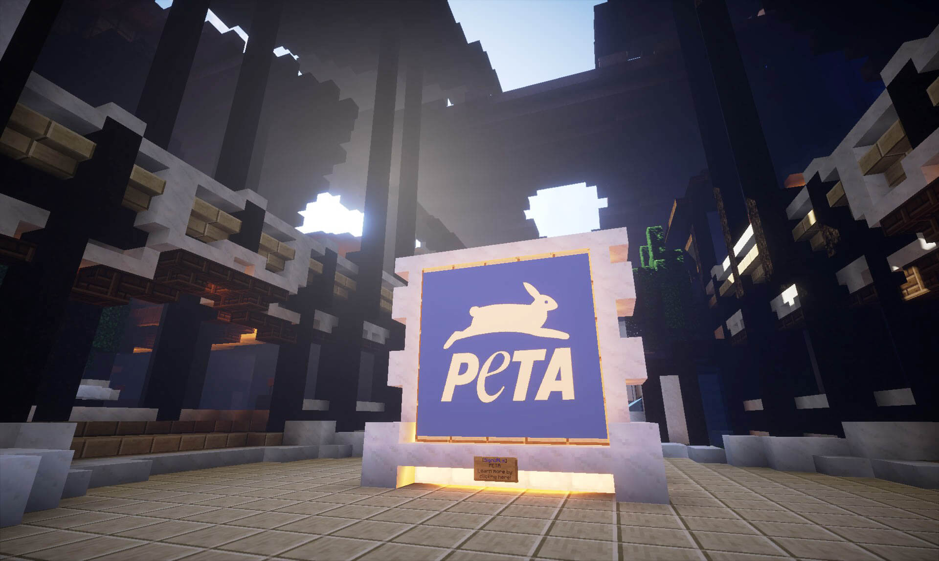 Inside the re-creation of peta's headquarters