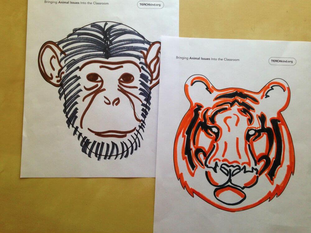 teachkind animal masks
