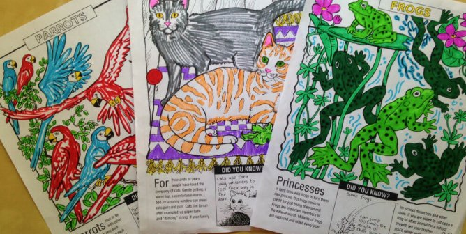 'We're All Animals' Coloring Sheets