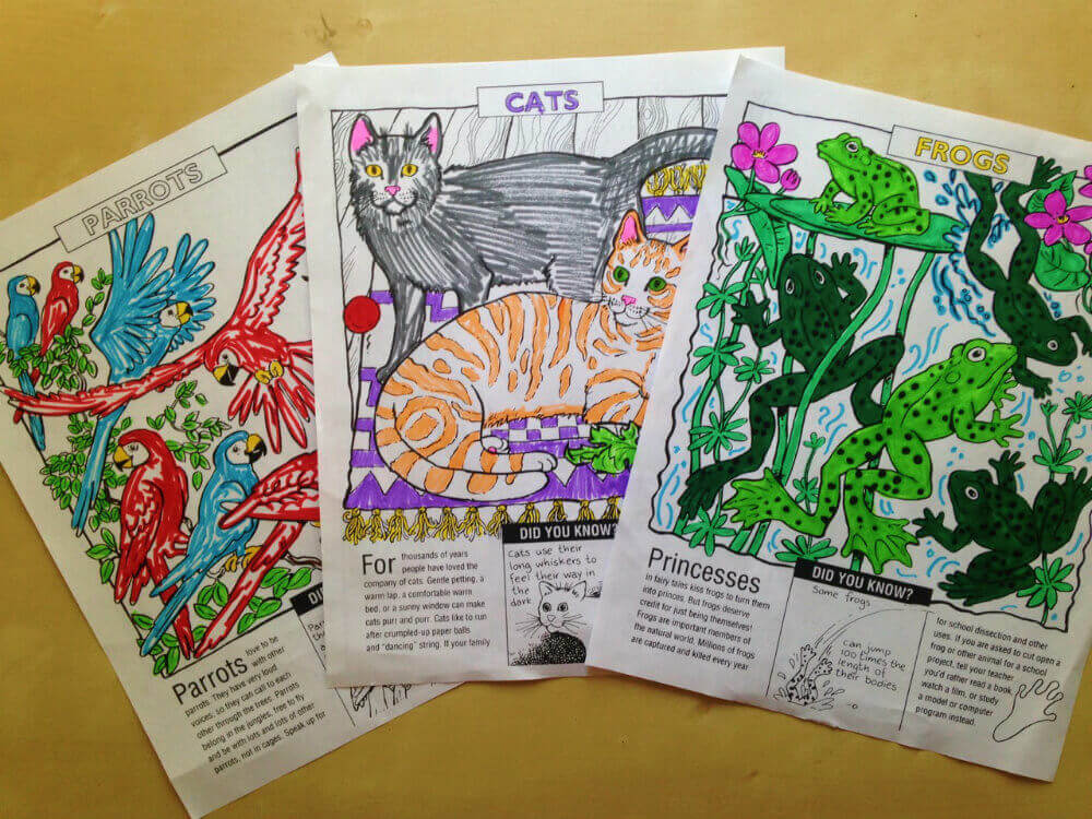 we're all animals teachkind coloring sheets