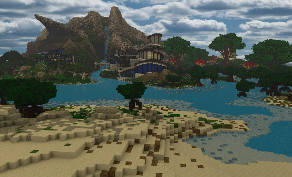 PETA's utopia on Minecraft is a vast beautiful island. Log in to explore it all!