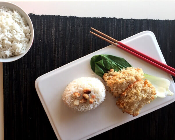 Macadamia Nut–Encrusted White 'Fish'