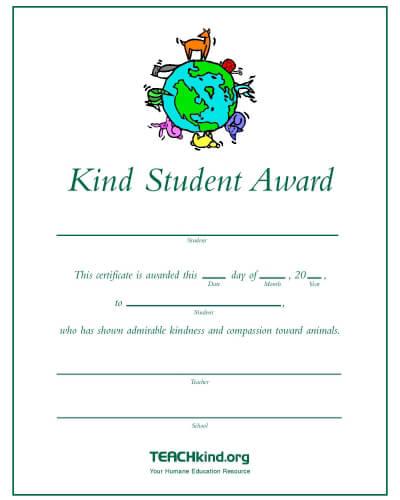 teachkind kind student awards