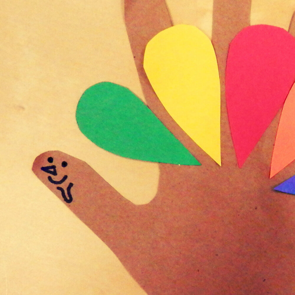 Thanksgiving Turkey Hand Celebrate Turkeys This Thanksgiving With Crafts  Peta Study For Monumental Head How To