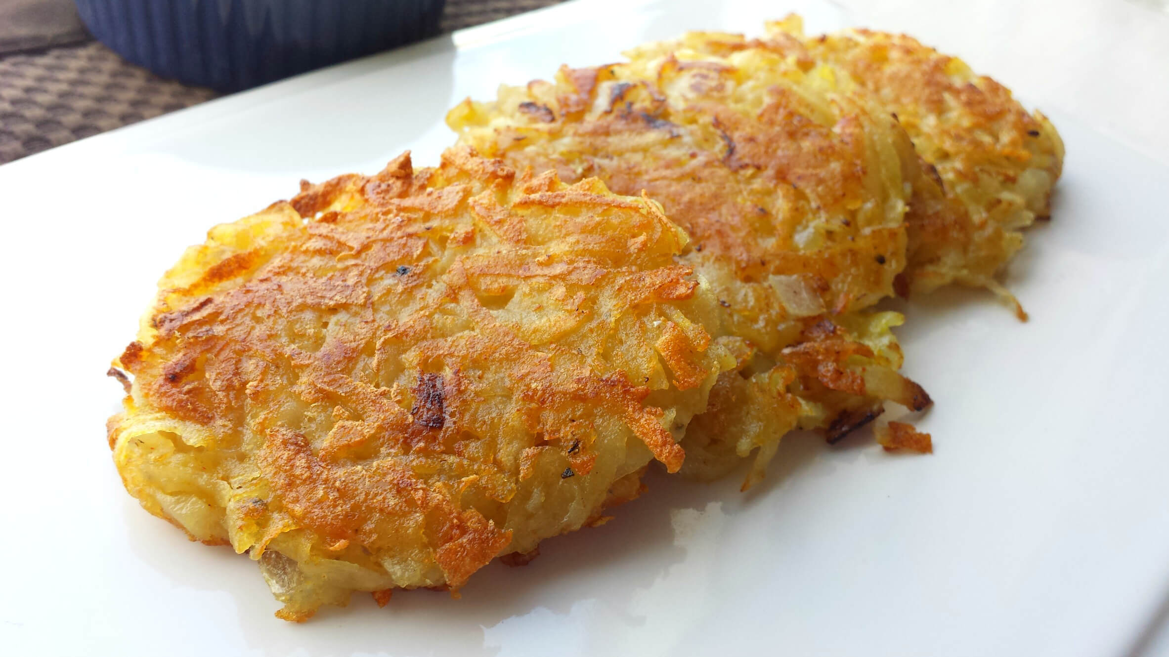 Classic potato pancakes latkes peta of course you can always munch on these crunchy latkes year round enjoy with a dollop of dairy free sour cream ccuart Choice Image