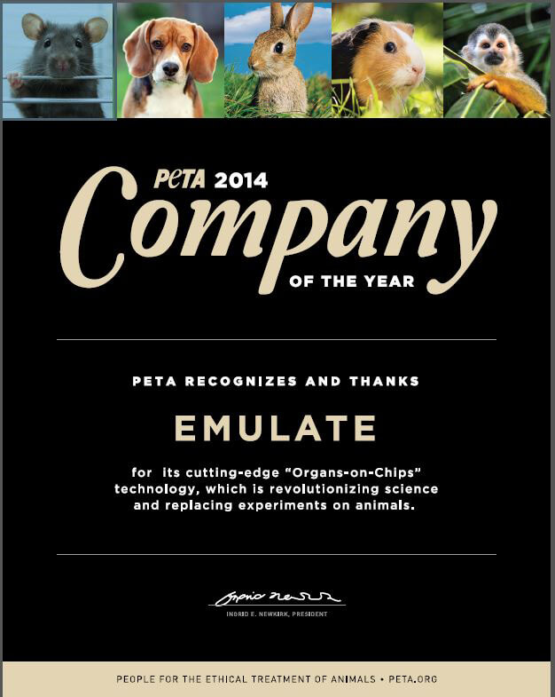 Emulate, PETA's Company of the Year 2014