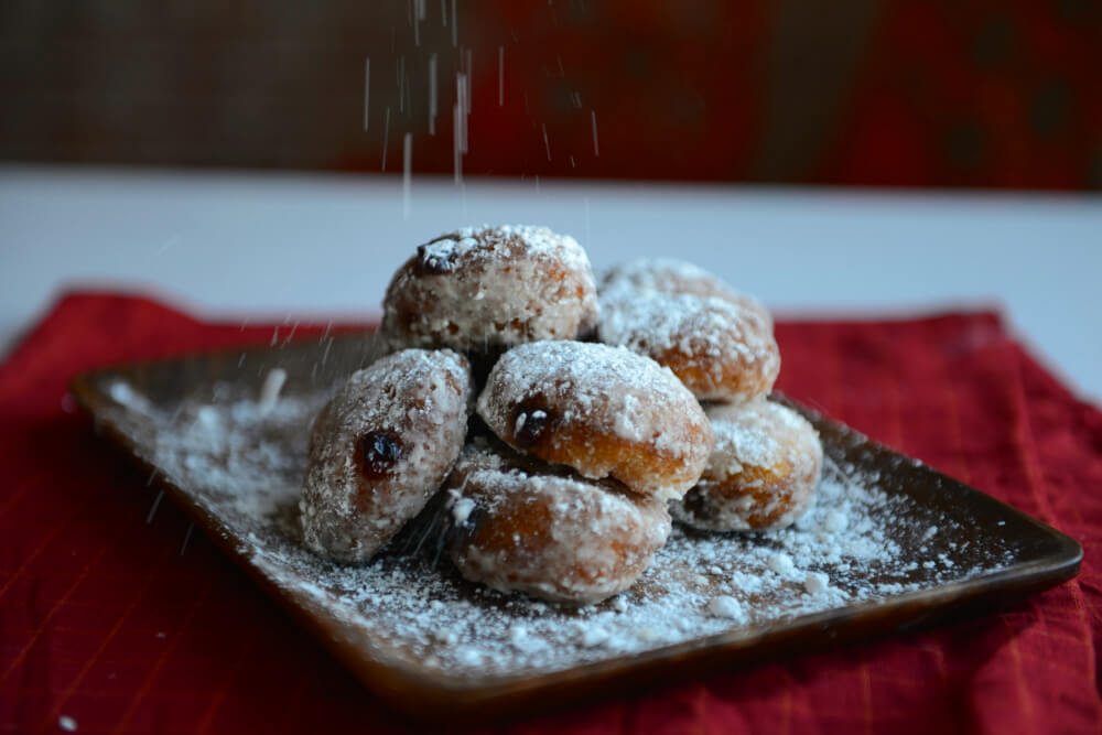 Jelly Donuts Powdered Sugar