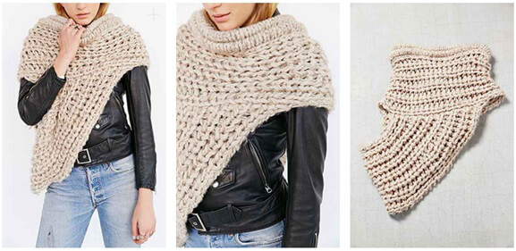 Urban Outfitters Funnel Shawl