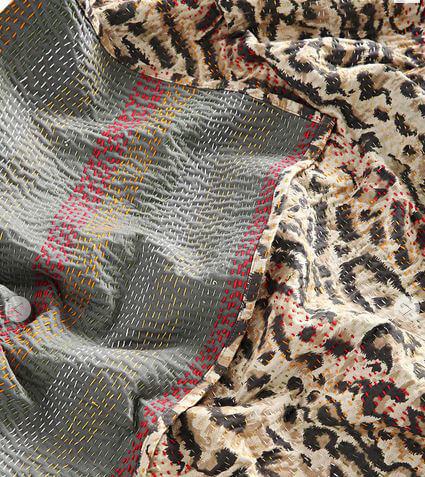 Leopard throw blanket