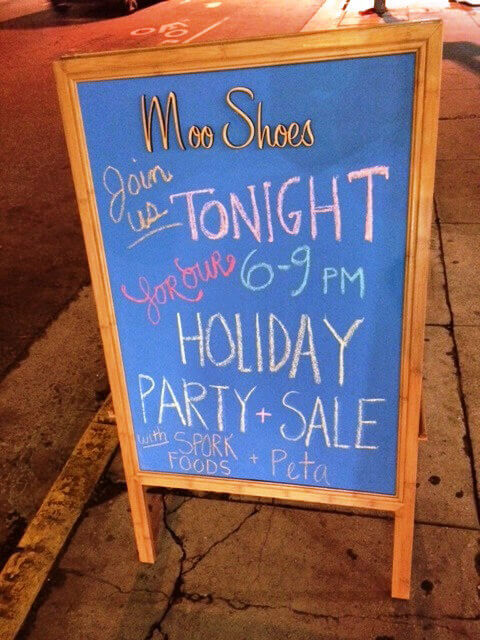 MooShoes Event Sign