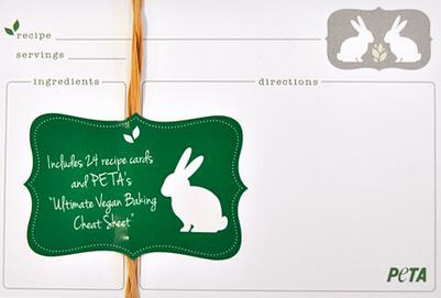PETA Recipe Cards