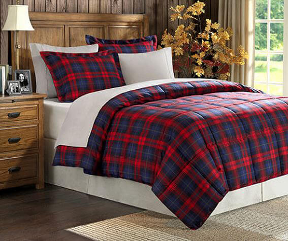 Plaid comforter