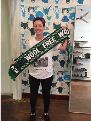 Monica at Bare Bones Body, Winner of #WoolFreeWinter Instagram Contest
