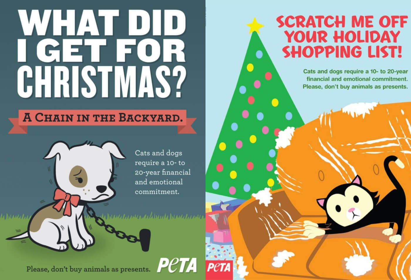 Ads Explain Why Animals Shouldn T Be Given As Gifts Peta