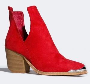 red vegan boots zooshoos