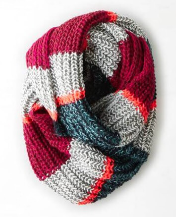 American Eagle Outfitters AEO Striped Loop Scarf