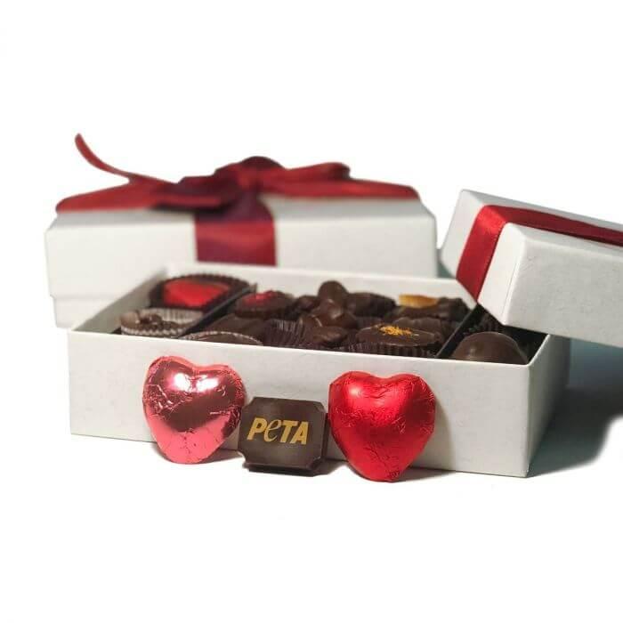 valentines day vegan chocolate box