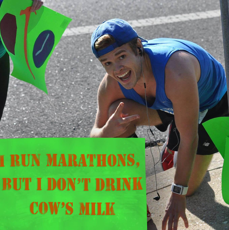 Cows milk, runner, Vegan Animal Rights Myth