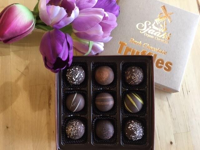 sjaaks organic chocolate truffles