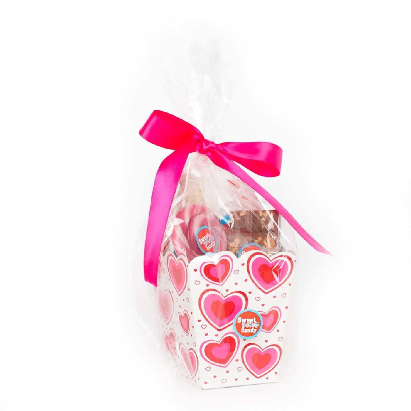 valentines treat tote basket vegan