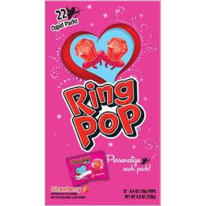 Vegan valentine's day candy ring pop