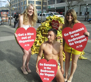 Banana Demo veganism sexy